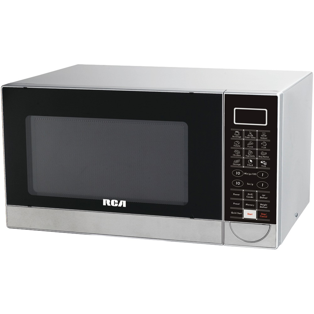 RCA RMW1182 1.1 Cubic-ft Stainless Steel Microwave with Grill Feature