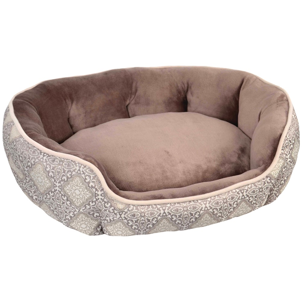 Wild Olive 13271-02 Oval Pet Bed (Brown)