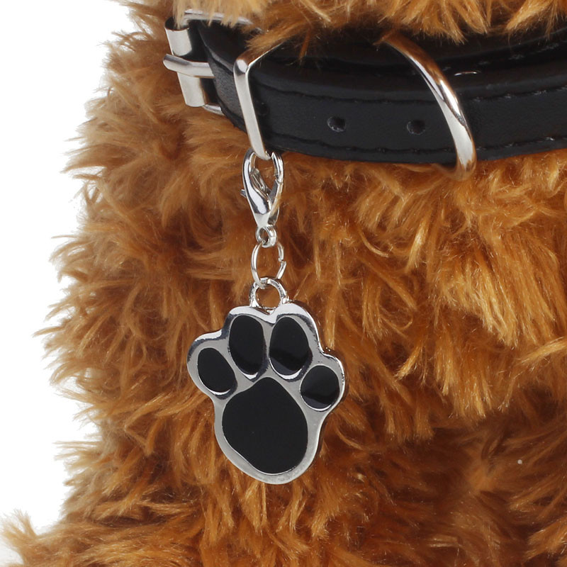 Fashion Popular Footprints Puppy Rhinestone Pendant LovelyPet Jewelry