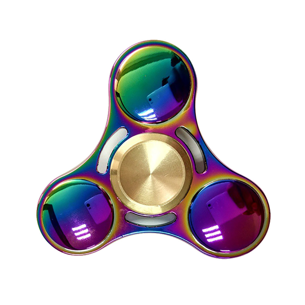 Rainbow Colors Titanium Alloy EDC Hand Fidget Spinner High Speed Focus Toy Gift