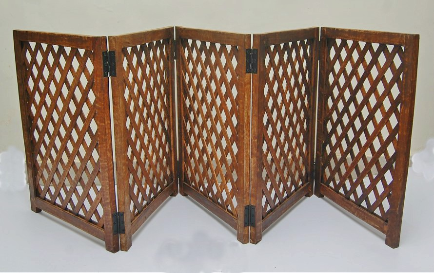 5 Panel Mango Wood Folding Pet Gate strong and durable