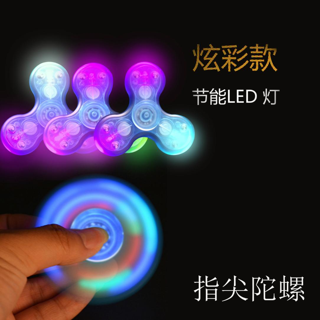 LED Glowing Fidget Spinner Triangle Single Finger Decompression Gyro