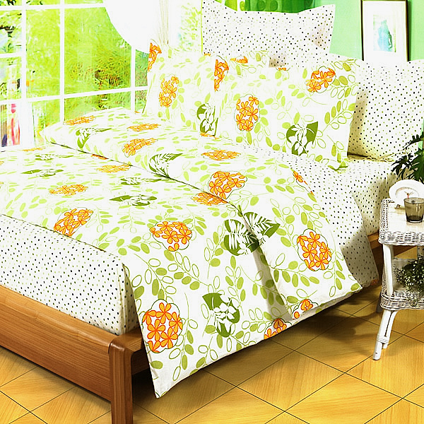 Blancho Bedding - [Summer Leaf] 100% Cotton 3PC Duvet Cover Set (Twin Size)(Comforter not included)