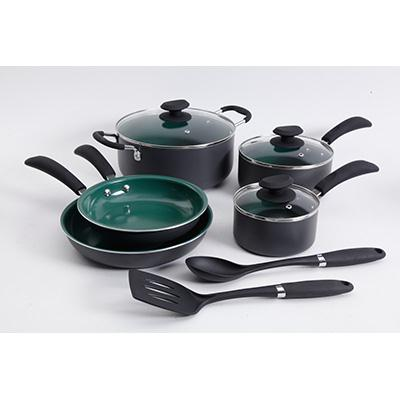 Eco Friendly Cookware 10pc Grn