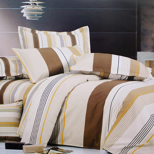 Blancho Bedding - [Shale] Luxury 4PC Comforter Set Combo 300GSM (Twin Size)