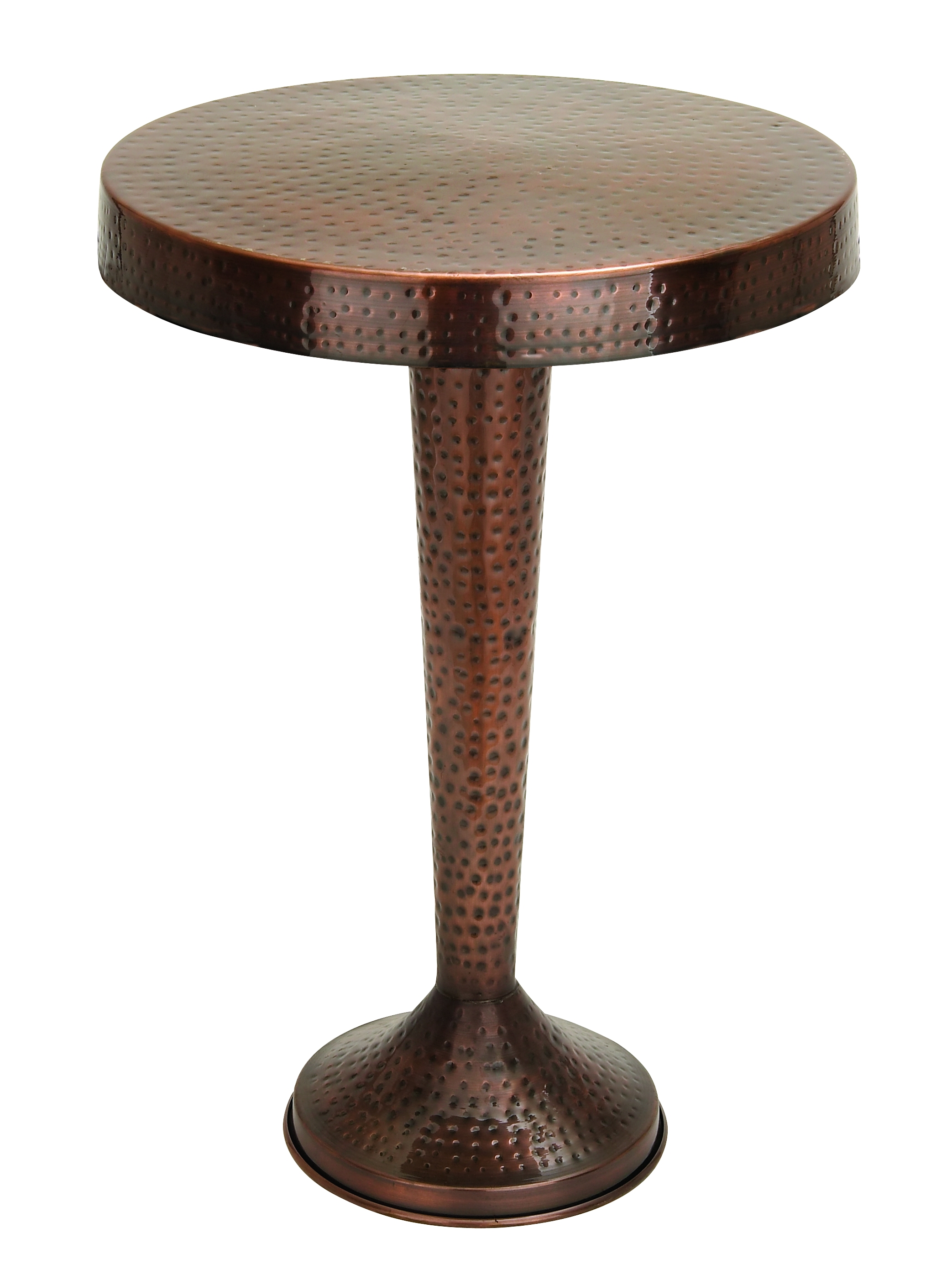 Vintage inspire metal bronze accent table