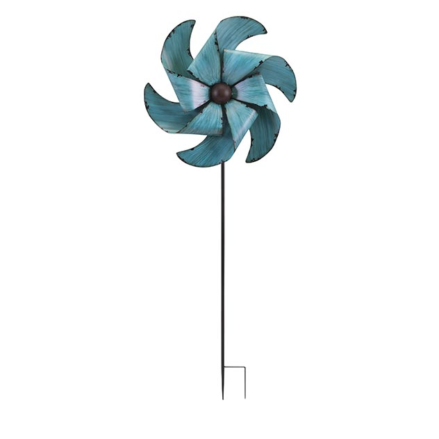 June whirly garden stake